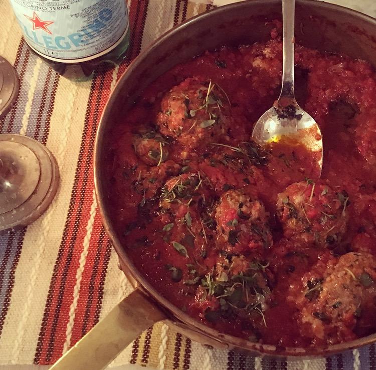 Lammfärsbullar I Tomatsås Med Citron